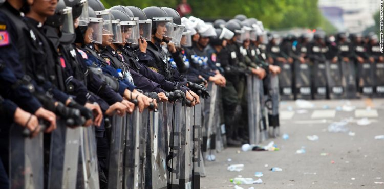 Thai police clear protest as emergency decree bans gatherings