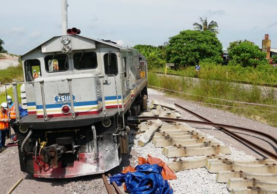 Trains derails in Segamat, all passengers and staff safe