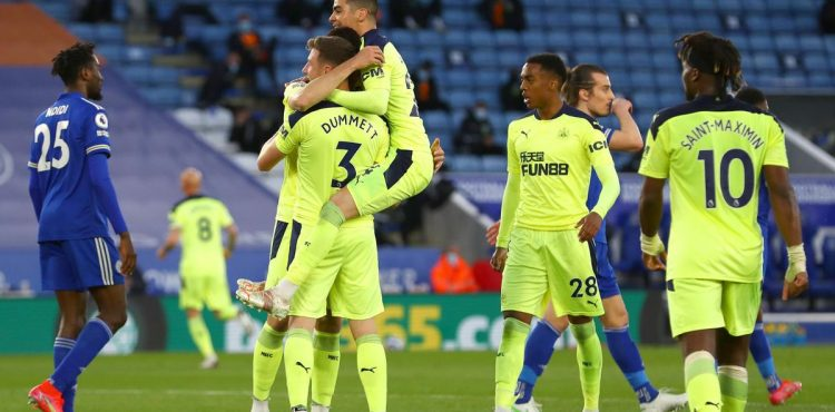 Newcastle dent Leicester's Champions League bid with shock win